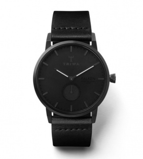 Watches Triwa Midnight Falken Black Classic - Black Buckle