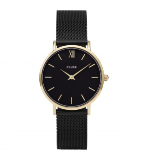 Watches Cluse Minuit Mesh Gold Black/Black