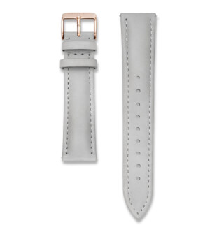 Straps Rosefield Bowery Leather Grey / Rosegold / 18 mm