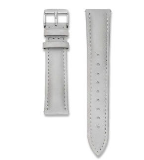 Straps Rosefield Bowery Leather Grey / Silver / 18 mm