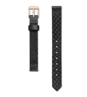 Straps Rosefield Small Edit Leather Black / Rosegold / 12 mm