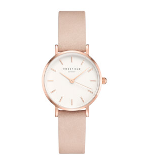 Straps Rosefield Small Edit Leather Soft Pink / Rosegold / 12 mm