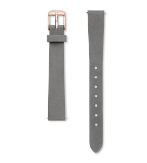 Straps Rosefield Small Edit Leather Grey / Rosegold / 12 mm