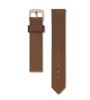 Straps Rosefield Tribeca Leather Brown / Rosegold / 16 mm
