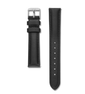 Straps Rosefield Tribeca Leather Black / Silver / 16 mm