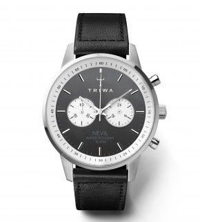 Watches Triwa Slate Nevil Black Sewn Classic