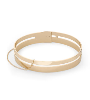 Jewelry Rosefield bracelet Iggy Double Bar Bangle Gold