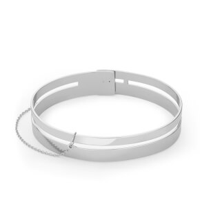 Jewelry Rosefield bracelet Iggy Double Bar Bangle Silver