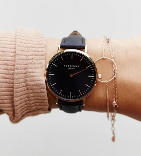 Watches Rosefield The Bowery Rosegold Black/Black