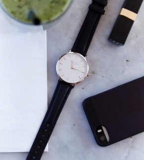 Watches Rosefield The Bowery Rosegold White/Black
