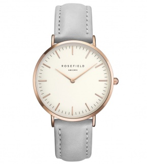 Watches Rosefield The Bowery Rosegold White/Grey
