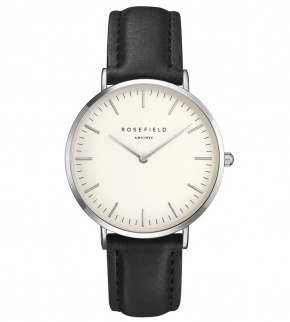 Watches Rosefield The Bowery Silver White/Black