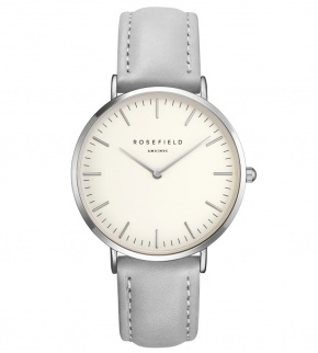 Watches Rosefield The Bowery Silver White/Grey