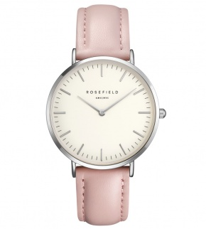 Watches Rosefield The Bowery Silver White/Pink