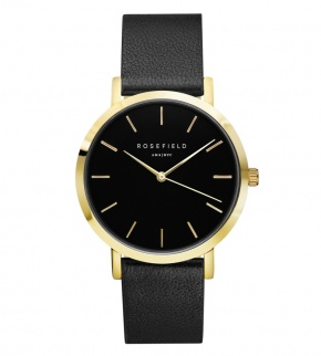 Watches Rosefield The Gramercy Gold Black/Black