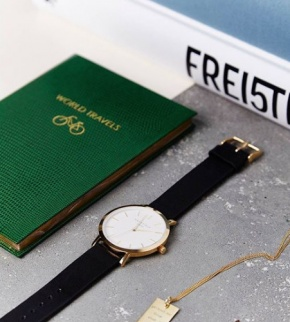 Watches Rosefield The Gramercy Gold White/Black