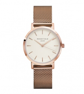 Watches Rosefield The Tribeca Rosegold White