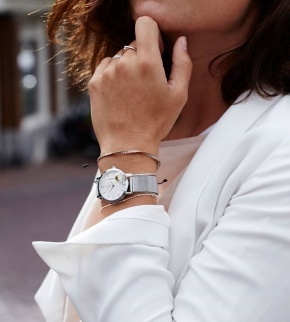 Watches Rosefield The Tribeca Silver White