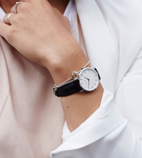 Watches Rosefield The Tribeca Silver White/Black