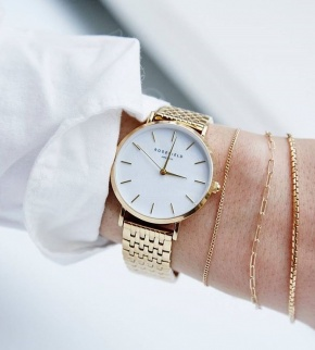 Watches Rosefield The Upper East Side Gold White Pearl