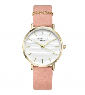 Watches Rosefield The West Village Gold White / Pink