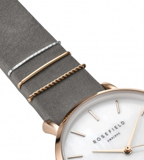 Watches Rosefield The West Village Rosegold White / Elephant Grey
