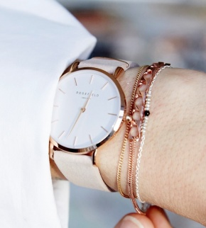 Watches Rosefield The West Village Rosegold White / Soft Pink