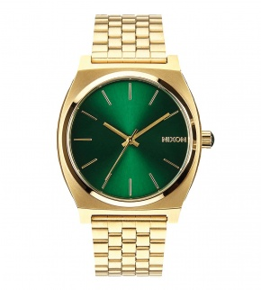 Watches Nixon Time Teller Gold / Green Sunray