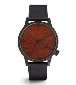 Watches Komono Winston Black Wood