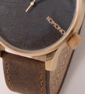 Watches Komono Winston Gold Wood