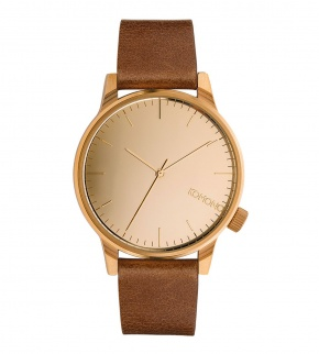 Watches Komono Winston Mirror Rose Gold Cognac