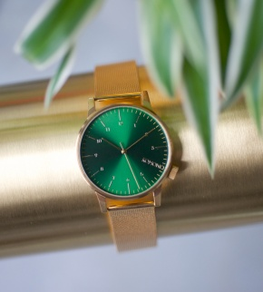 Watches Komono Winston Royale Gold Green