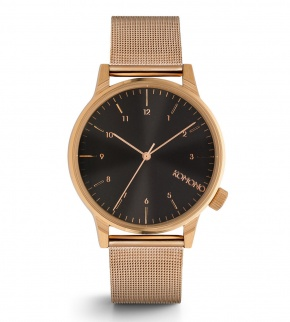 Watches Komono Winston Royale Rose Gold Black