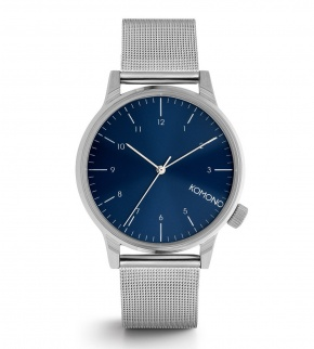 Watches Komono Winston Royale Silver Blue