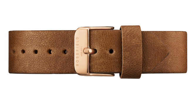 The Tribeca Rosegold White/Brown