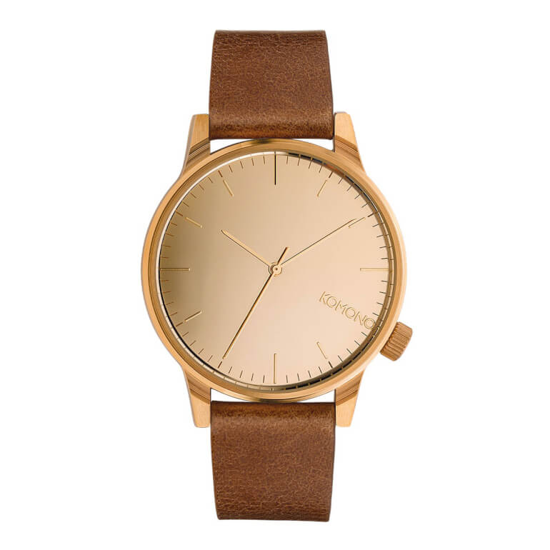 Winston Mirror Rose Gold Cognac